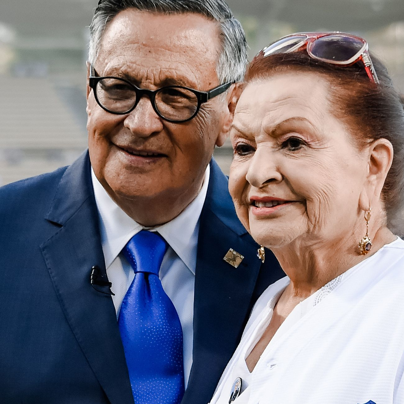 Jaime Jarrin and Vin Scully at Jarrin's Ring of Honor ceremony
